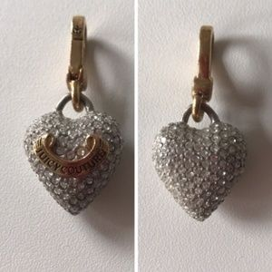 🔵3 for $15 Juicy Couture Pave Puffed Heart Charm
